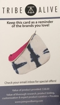 bag info card (front)
