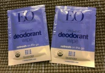 EO deodorant wipes