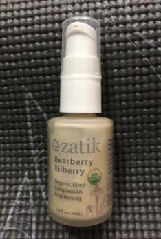 Zatik Bearberry Bilberry Complexion Toning Organic Elixir packaging