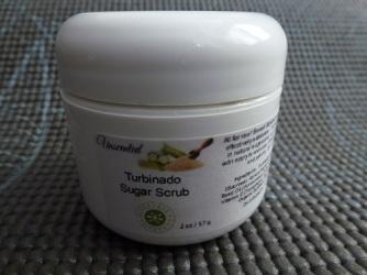 Turbinado Sugar Scrub container