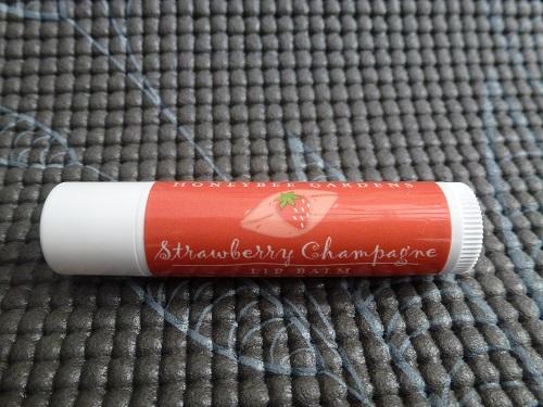 Lip balm in Strawberry Champagne