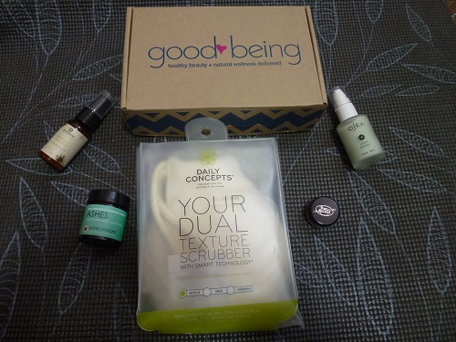 October 2016 Goodbeing box contents