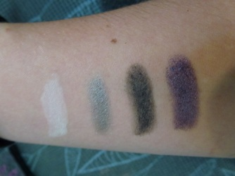 Swatches of Nirvana, Chrome, Falon, and Chivalry